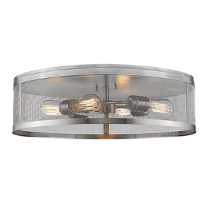 Meshsmith Brushed Nickel 21-Inch Four-Light Flush Mount