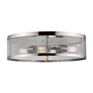 Meshsmith Chrome 21-Inch Four-Light Flush Mount