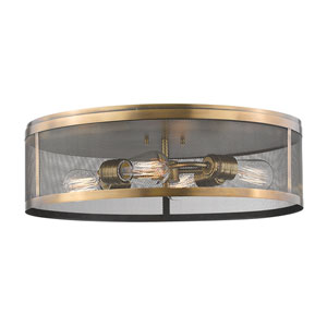 Meshsmith Natural Brass 21-Inch Four-Light Flush Mount