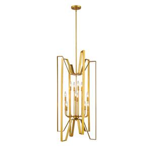 Marsala Polished Metallic Gold Twelve-Light Pendant