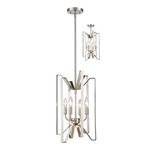 Marsala Brushed Nickel Four-Light Pendant