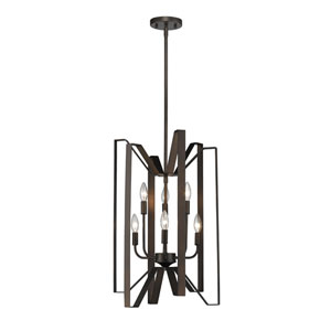 Marsala Bronze 16-Inch Six-Light Pendant