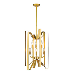 Marsala Polished Metallic Gold 16-Inch Six-Light Pendant