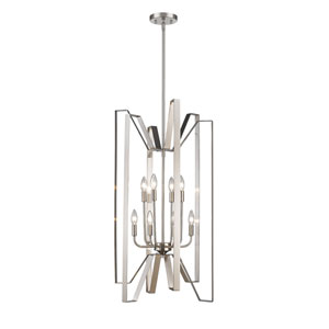 Marsala Brushed Nickel Eight-Light Pendant