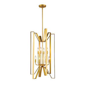 Marsala Polished Metallic Gold Eight-Light Pendant