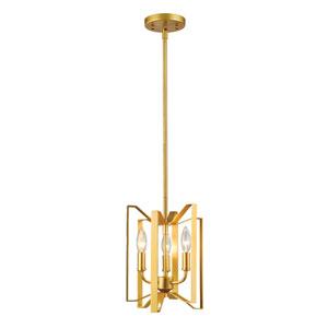 Marsala Polished Metallic Gold Three-Light Pendant