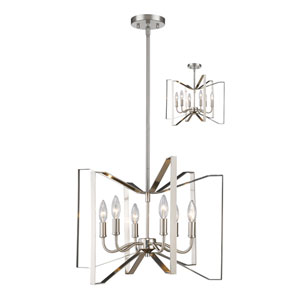 Marsala Brushed Nickel 20-Inch Six-Light Pendant