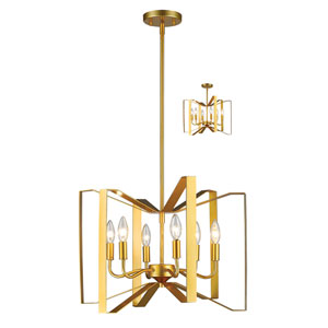 Marsala Polished Metallic Gold 20-Inch Six-Light Pendant