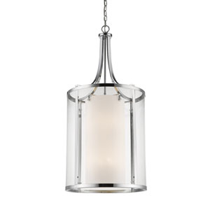 Willow Chrome Twelve-Light Pendant