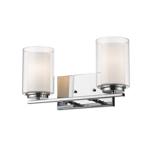 Willow Chrome Two-Light Vanity