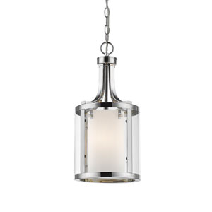 Willow Chrome Three-Light Mini Pendant