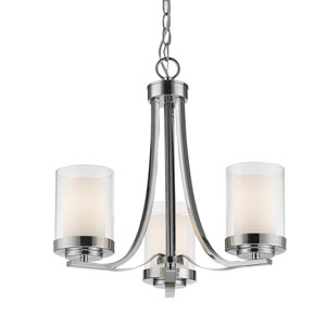 Willow Chrome Three-Light Chandelier
