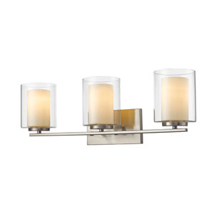 Willow Brushed Nickel Three-Light Vanity Fixture