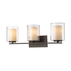 Willow Olde Bronze Three-Light Vanity Fixture