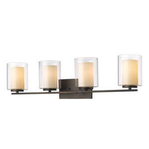 Willow Olde Bronze Four-Light Vanity Fixture