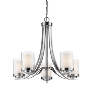 Willow Chrome Five-Light Chandelier