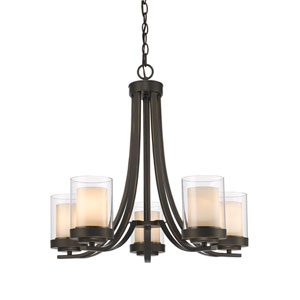 Willow Olde Bronze Five-Light Chandelier
