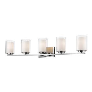 Willow Chrome Five-Light Vanity
