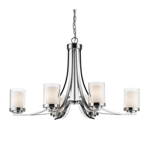 Willow Chrome Six-Light Chandelier