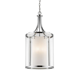 Willow Chrome Eight-Light Pendant