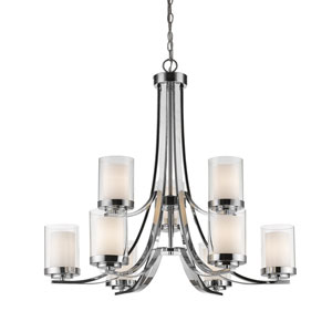 Willow Chrome Nine-Light Chandelier