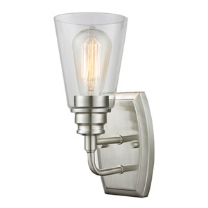 Annora Brushed Nickel One-Light Wall Sconce