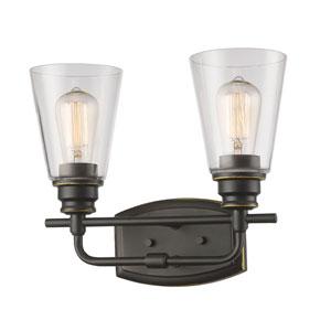 Annora Olde Bronze Two-Light Vanity Fixture