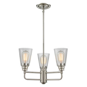 Annora Brushed Nickel Three-Light Chandelier