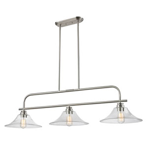 Annora Brushed Nickel Three-Light Island Pendant