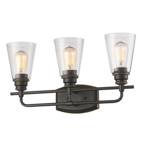 Annora Olde Bronze Three-Light Vanity Fixture