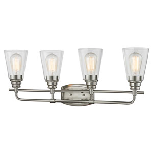 Annora Brushed Nickel Four-Light Vanity Fixture