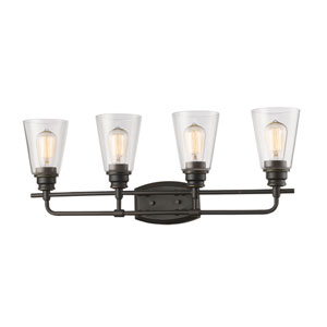 Annora Olde Bronze Four-Light Vanity Fixture
