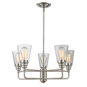 Annora Brushed Nickel Five-Light Chandelier