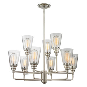 Annora Brushed Nickel Nine-Light Chandelier
