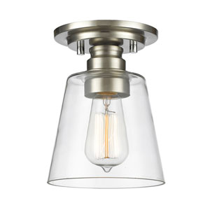 Annora Brushed Nickel One-Light Semi Flush Mount