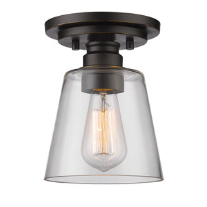 Annora Old Bronze One-Light Semi Flush Mount