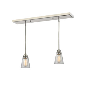 Annora Brushed Nickel One-Light Island Pendant
