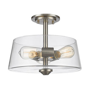 Annora Brushed Nickel Three-Light Semi Flush Mount