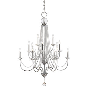 Serenade Chrome 15-Light Chandelier with Clear Crystal