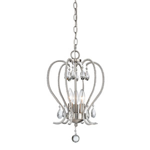 Serenade Brushed Nickel Three-Light Mini Chandelier