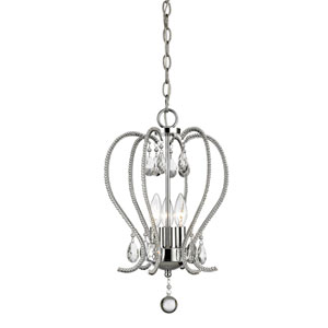 Serenade Chrome Three-Light Mini Chandelier