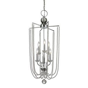 Serenade Chrome Seventeen-Inch Chandelier