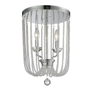 Serenade Chrome Two-Light Flushmount