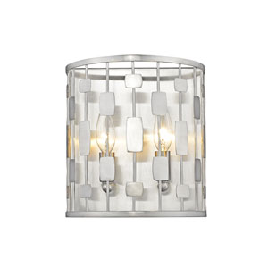 Almet Brushed Nickel Two-Light Wall Sconce