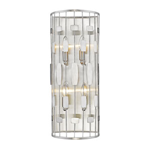 Almet Brushed Nickel Four-Light Wall Sconce