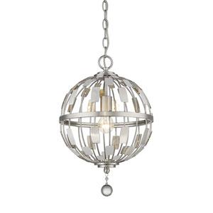 Almet Brushed Nickel One-Light Globe Pendant