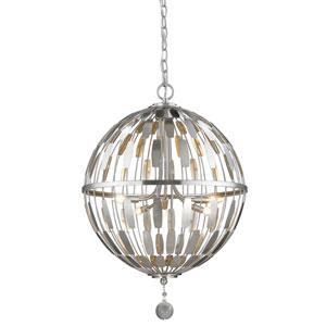 Almet Brushed Nickel Five-Light Globe Pendant