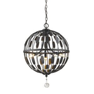 Almet Bronze Five-Light Globe Pendant