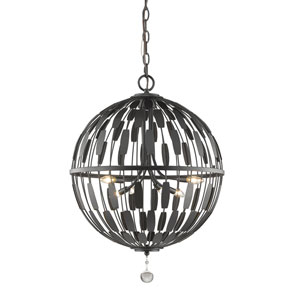 Almet Bronze Six-Light Globe Pendant