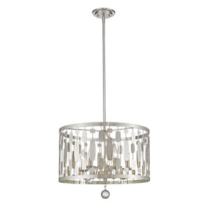 Almet Brushed Nickel Five-Light Drum Pendant